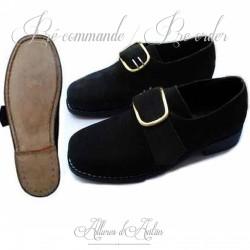 Chaussures de troupe- XVIIIe- Noir