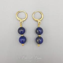 Collier 5 Camées - Bleu